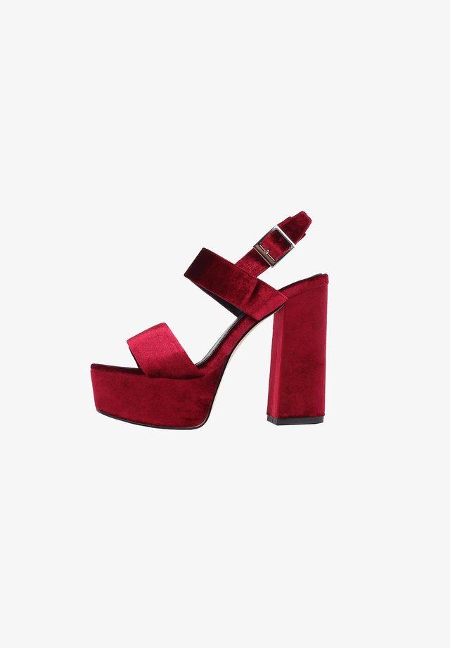 CACTUS - Sandalen met hoge hak - burgundy