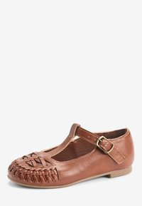 Next - WHITE WOVEN T-BAR SHOES (YOUNGER) - Baby shoes - brown - 2