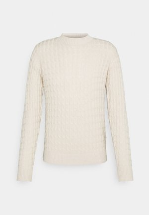 KARL CABLE KNIT - Pullover - light sand