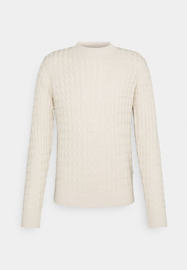 KARL CABLE KNIT - Neule - light sand