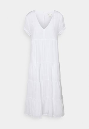 SEAMED TIERED DRESS - Sukienka letnia - white