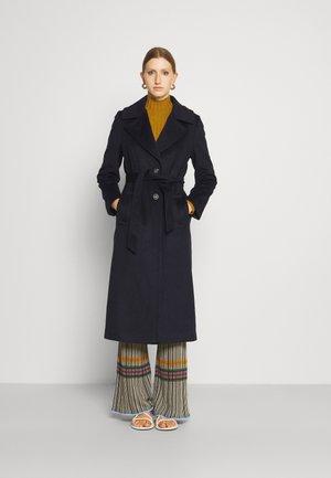 COAT CLARETA BELT - Classic coat - medium blue