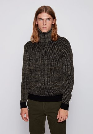 Strickpullover - open green
