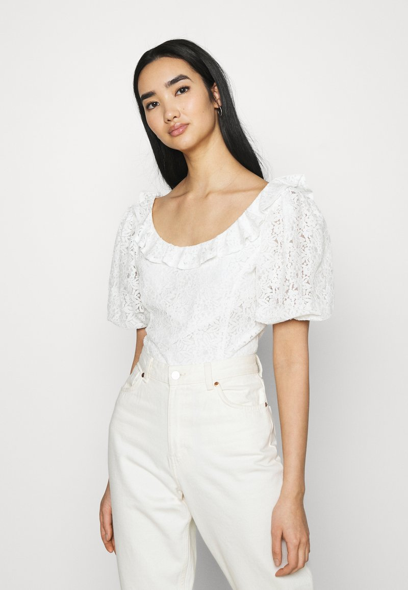 Fashion Union - HOLMES - Triko spotiskem - white