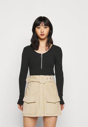 ONLKAYLEE LIFE ZIP - Long sleeved top - black
