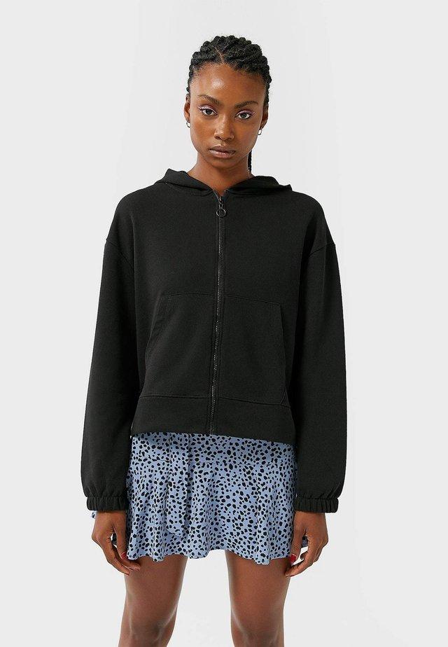 MIT REISSVERSCHLUSS  - Bluza rozpinana - black