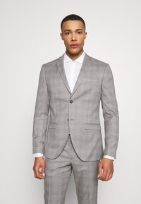 Isaac Dewhirst - CHECK 3 PIECES SUIT - Completo - grey - 2