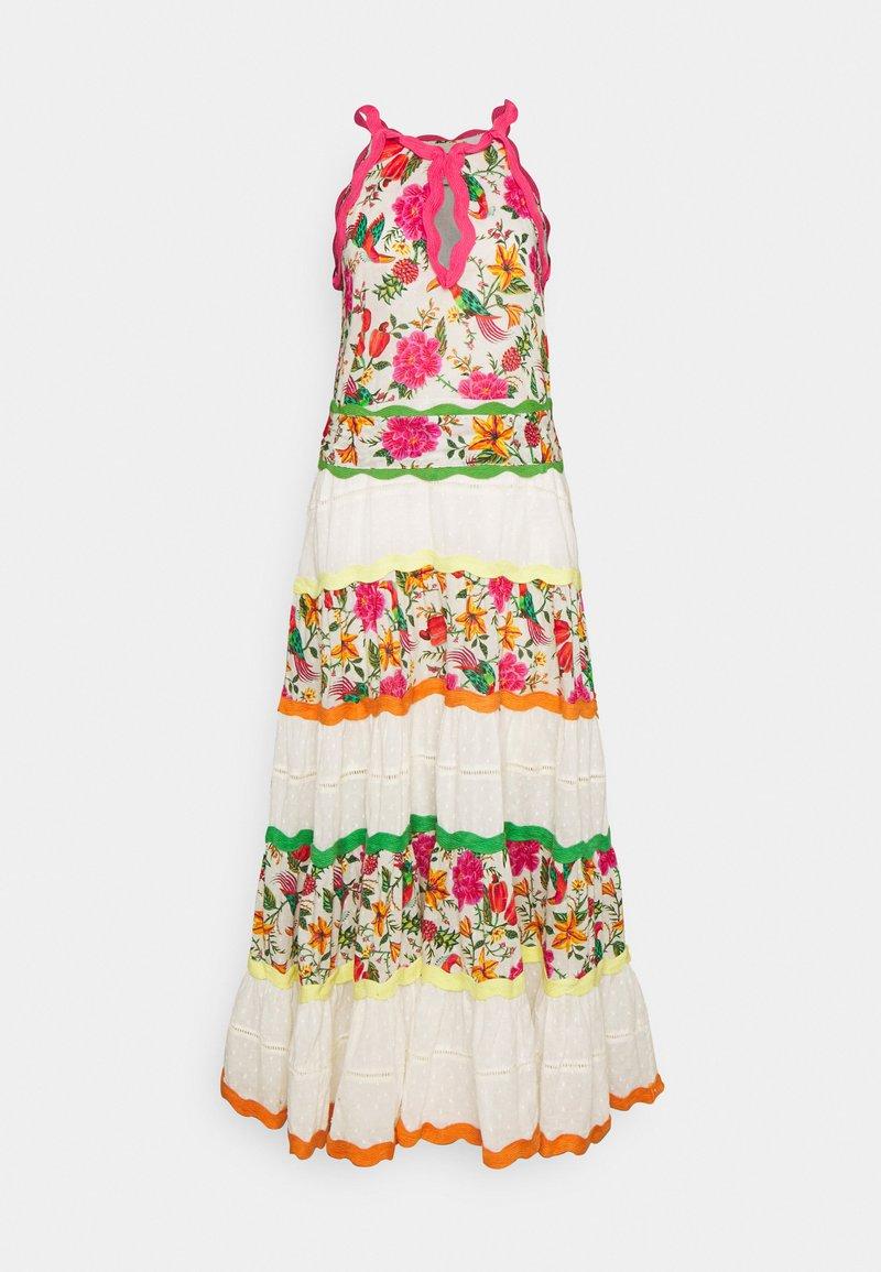Farm Rio - TOUCANS GARDEN DRESS - Maxi dress - off-white