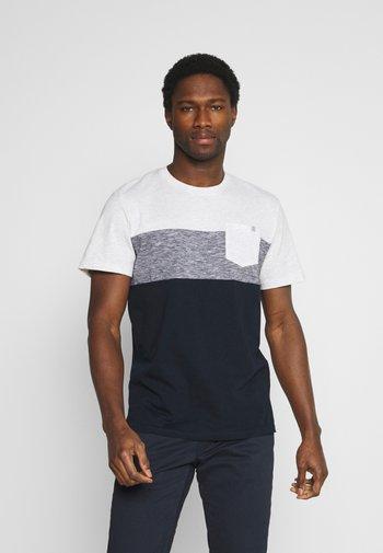 CUTLINE - Print T-shirt - white melange