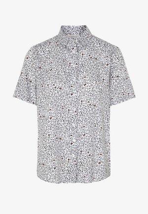 Button-down blouse - weiss/braun