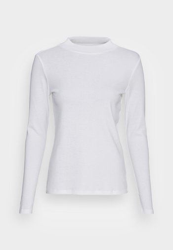 HIGH NECK - Long sleeved top - white
