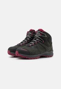 Mammut - NOVA III MID GTX WOMEN - Hiking shoes - black/dark sundown - 1