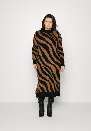 VIRIL CREW NECK  - Jumper dress - toffee melange