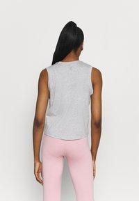 Nike Performance - CROCHET TANK - Sportshirt - grey heather/white/platinum tint - 2