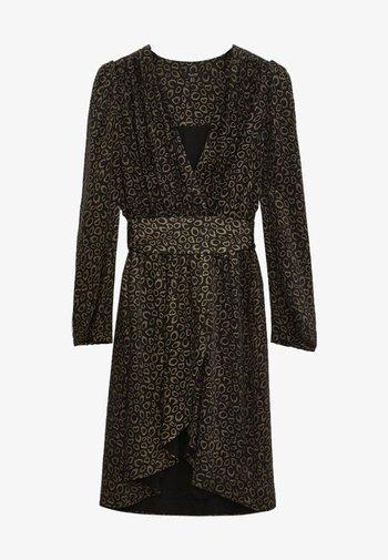 MIT SCHULTERPOLSTERN - Day dress - black