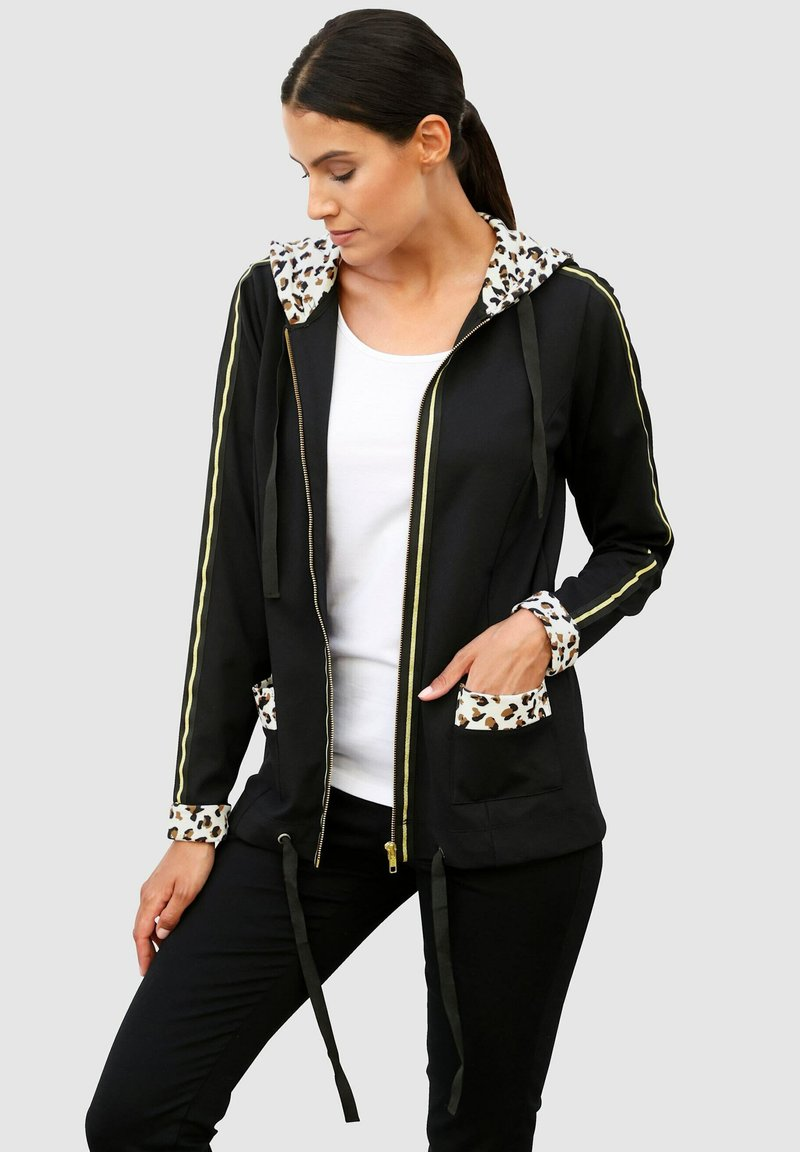 Laura Kent - Zip-up sweatshirt - schwarz