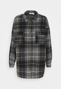 Noisy May - NMFLANNY LONG SHACKET - Camisa - black/grey - 4