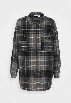 NMFLANNY LONG SHACKET - Camisa - black/grey