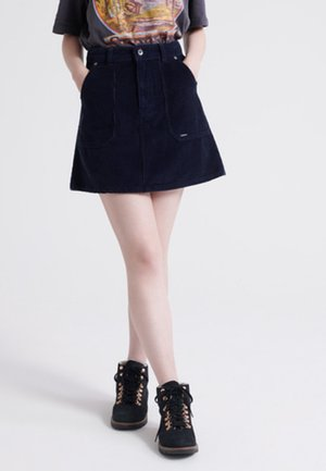 A-line skirt - deep navy blue