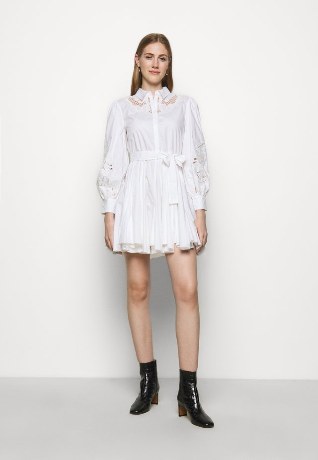 REBELLO - Skjortekjole - blanc