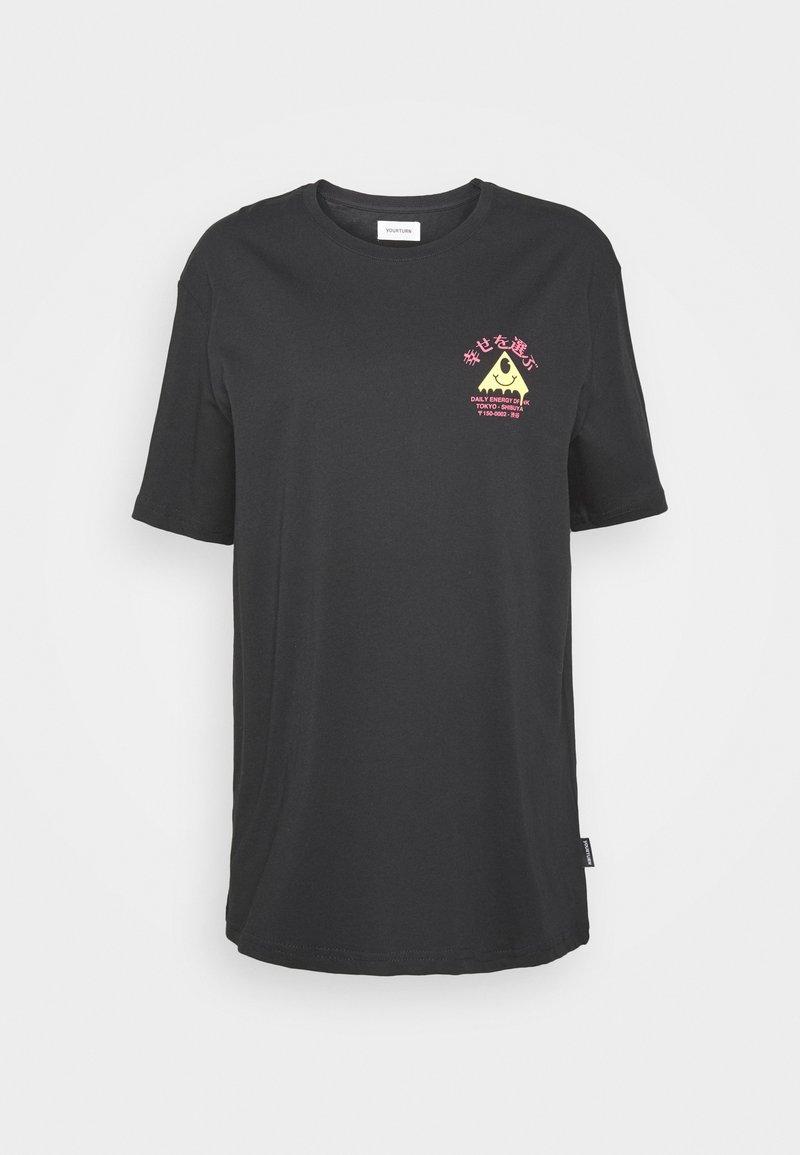 YOURTURN - Print T-shirt - black