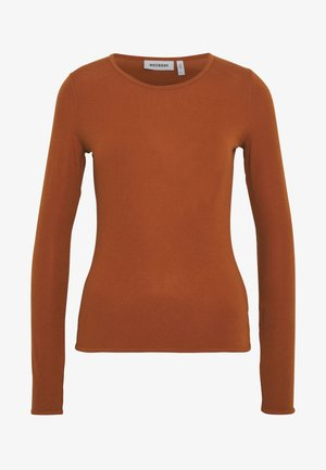 TERESA LONG SLEEVE - Top s dlouhým rukávem - brown medium dusty