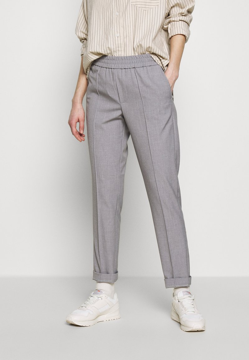Carin Wester - TROUSERS FARIN - Trousers - grey melange