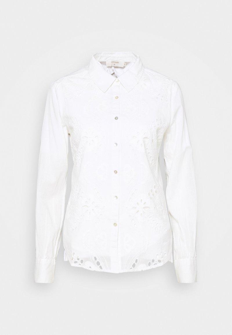 Cream - KALLIE - Button-down blouse - snow white