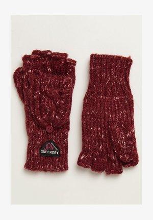 GRACIE - Fingerless gloves - fuschia tweed