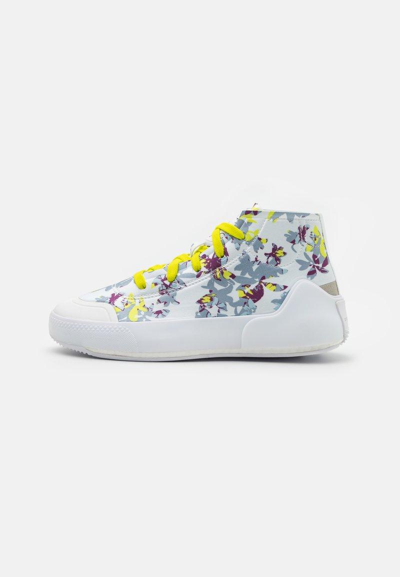 adidas by Stella McCartney - ASMC TREINO MID PRINTED - Sports shoes - footwear white/core black/acid yellow