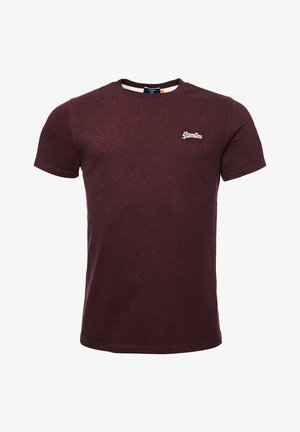 VINTAGE EMBROIDERY - Print T-shirt - deepest burgundy grit