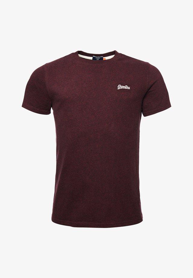 VINTAGE EMBROIDERY - T-shirt print - deepest burgundy grit