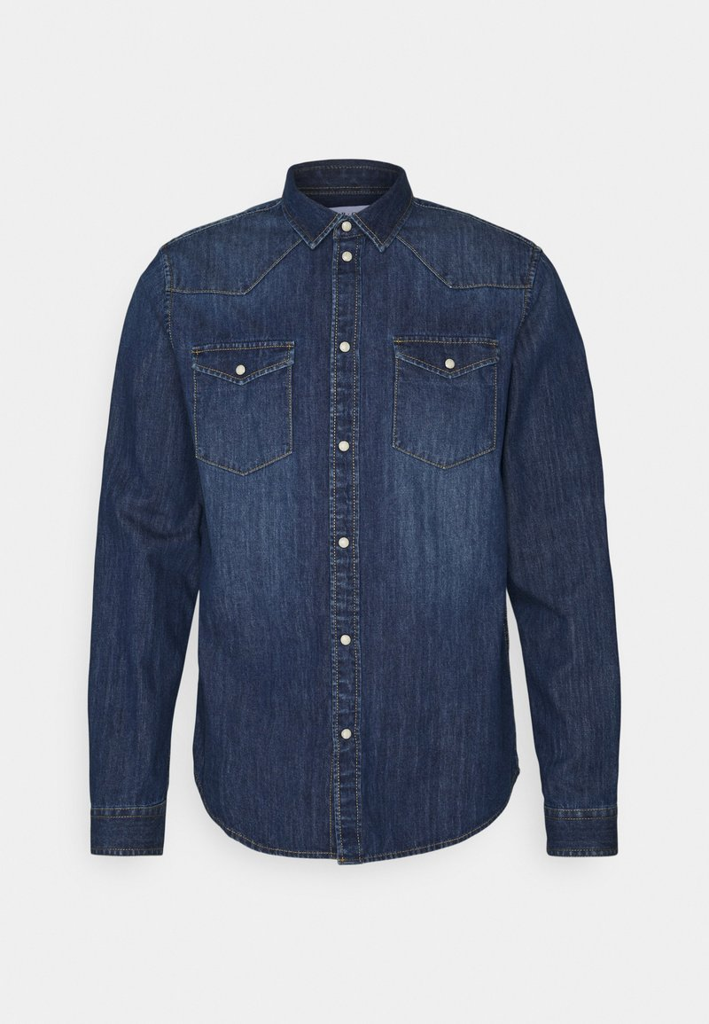 Pier One - DENIM SHIRT - Skjorta - blue denim
