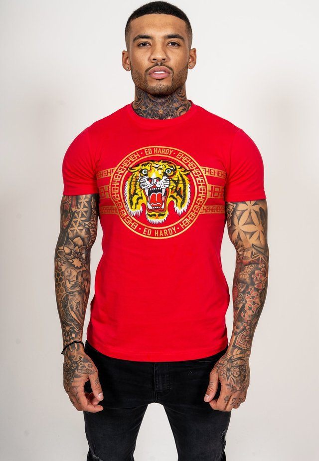 TIGER STRIPE T-SHIRT - T-shirt imprimé - red