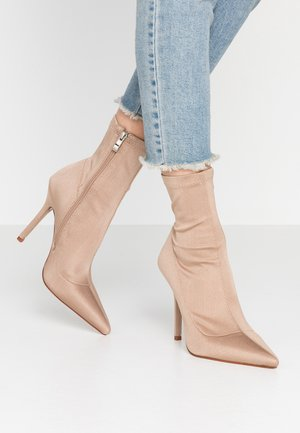 PRESCA - High heeled ankle boots - nude