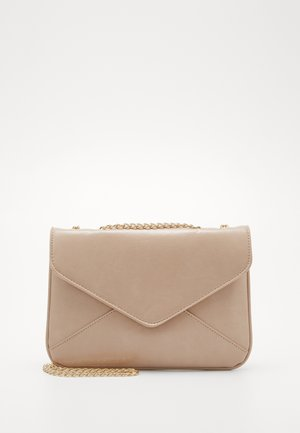 PCSIMONE CROSS BODY - Taška s příčným popruhem - beige/gold-coloured