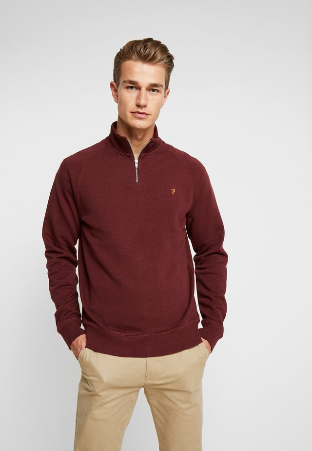 JIM ZIP - Sweatshirt - farah red