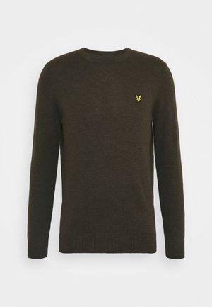 CREW NECK JUMPER - Stickad tröja - trek green marl