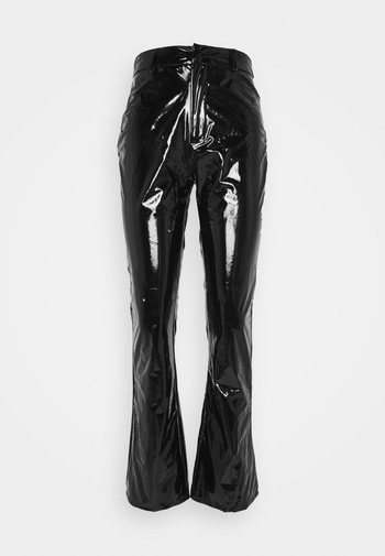 SHINY FLARE TROUSERS