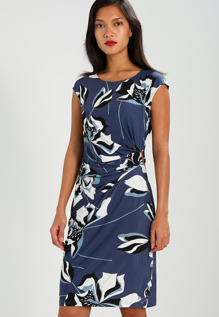 Anna Field - Shift dress - black/blue