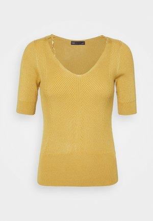 VEE - Jednoduché triko - yellow
