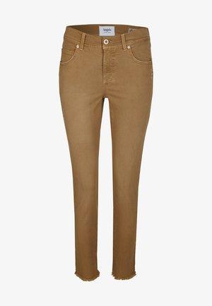 ORNELLA GLAMOUR - Slim fit jeans - hellbraun