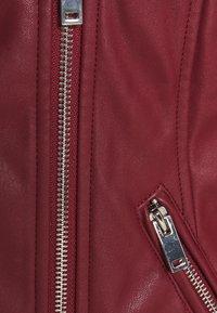 Glamorous Curve - JACKET - Faux leather jacket - burgundy - 2