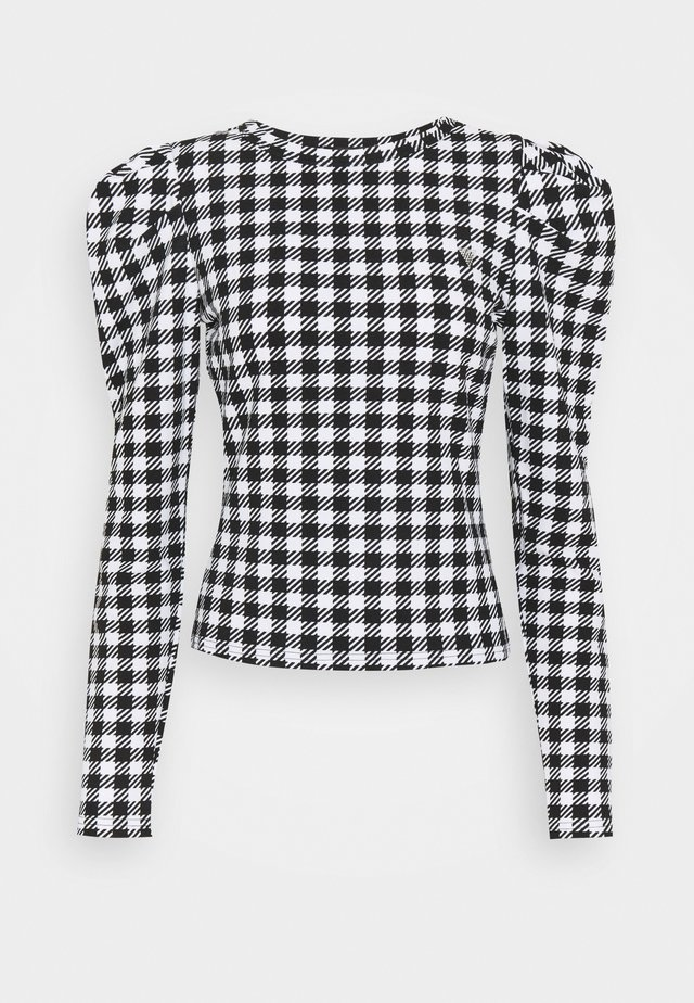 HADIL - Long sleeved top - black/white