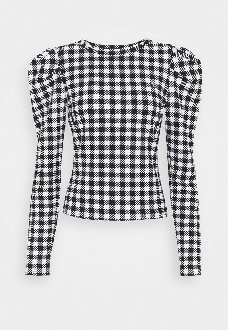 Guess - HADIL - Bluzka z długim rękawem - black/white