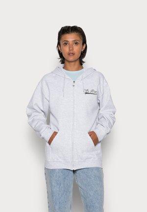 UNISEX SCRIPT ZIP HOODIE - Sweater met rits - grey