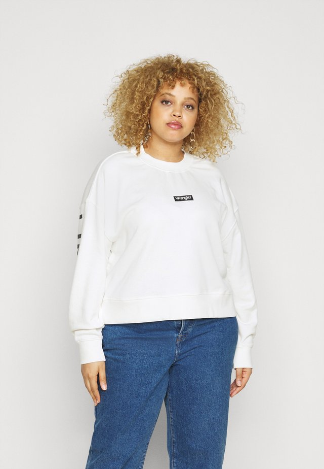 HIGH RIB BOXY RETRO - Felpa - off white