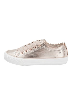 ROSE GOLD SCALLOP LACE-UP TRAINERS (OLDER) - Trainers - pink