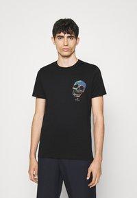 PS Paul Smith - SLIM FIT TSHIRT SKULL - Print T-shirt - black - 0