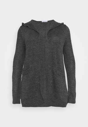 Strikjakke /Cardigans - mottled dark grey